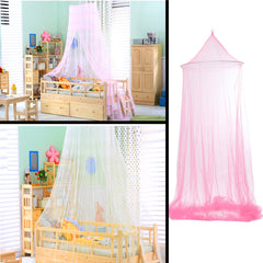 White Dome Baby Mosquito Net For Toddler Crib Canopy Netting Dome Hanging 187cm