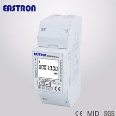 SDM230-Pulse 100A Single Phase Din Rail Energy Meter Watt-hour KWH Meter PV Solar Power Meter