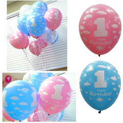 Baby Girl Boy 1st Birthday Balloon Balloons First Year Birthday Party Decoration