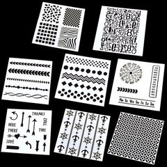 4 Designs Stencils Template DIY Scrapbooking Paper Card Craft Painting Tool