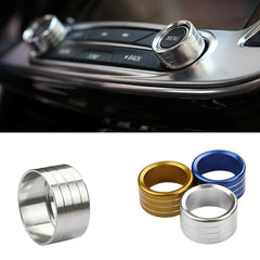 2pcs/Set Cars Alu Decoration Stereo Knob Ring Air Conditioning Knob Ring for Envision