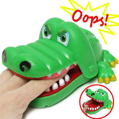 Children Kid Crocodile Mouth Dentist Bite Alligator Tooth Halloween Exciting Finger Game Family Toy