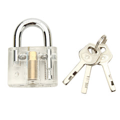 Disc Type Transparent Padlock with Disc Detainer Locksmith Tools Locksmith Training Skill Set