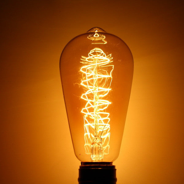 ZX Dimmable Antique Filament Retro Vintage Pendent 40W Chandelier Incandescent Light Bulb 110V 220V