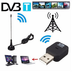 USB 2.0 DVB-T Digital TV Receiver Tuner Stick Dongle OSD Audio ADC MPEG-2 MPEG-4 PC