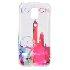 Colored Drawing London Pattern Case Cover for Samsung S5 mini