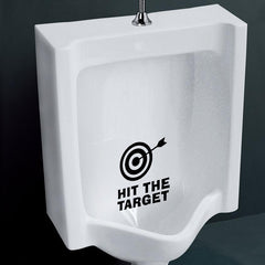 Honana BC-577 Hit The Target Toilet Wall Sticker Bathoom Decor Thinking 15 x 13cm Funny Toilet Entrance