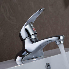 Zinc Alloy Hot And Cold Single Holder Double Hole Wash Basin Tap