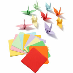 100pcs 8x8cm Brand NEW Origami Square Paper Double Sided Coloured Sheets Craft DIY