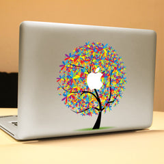 PAG Apple Tree Decorative Laptop Decal Removable Bubble Free Self-adhesive Partial Color Skin Sticke