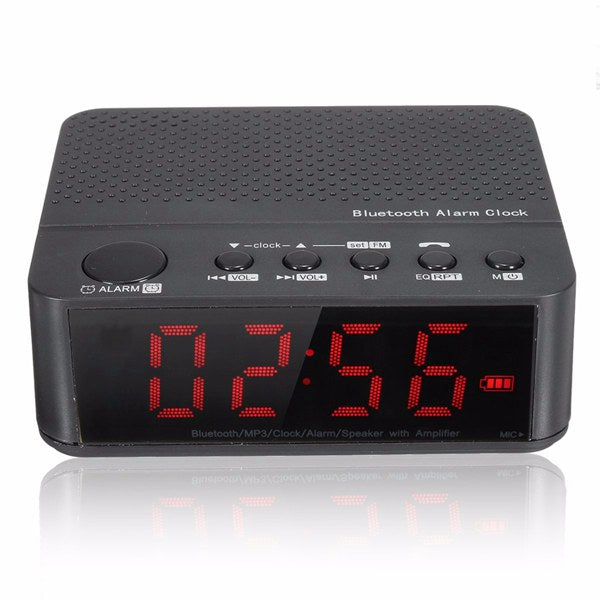 Digital LED Display Alarm Clock With Bluetooth Speaker Amplifier FM Radio Mp3 Player