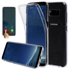 Full Body Transparent Touch Screen TPU Case For Samsung S8 Plus
