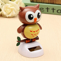 Solar Powered Owl Dancing Flip Flap Swinging Shook His Head Doll