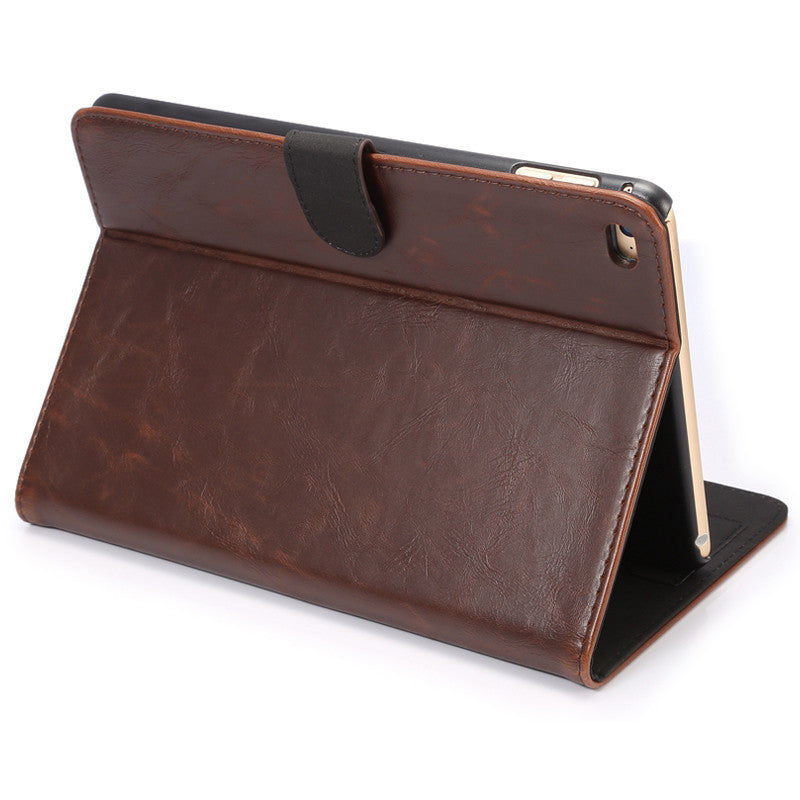 ENKAY Crazy Horse Leather Case With Sleep-Wake-up Function For iPad Mini 4