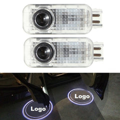 Pair 5W 1800LM LED Door Light Shadow Projector Courtesy Laser Welcome Lamp for Audi