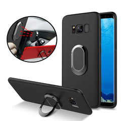 Bakeey™ 360° Adjustable Metal Ring Kickstand Magnetic Frosted TPU Case for Samsung Galaxy S8 Plus