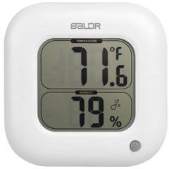 BALDR B0323H Digital Square Thermometer Hygrometer Indoor Temperature Humidity Meter Wall Table LCD Display