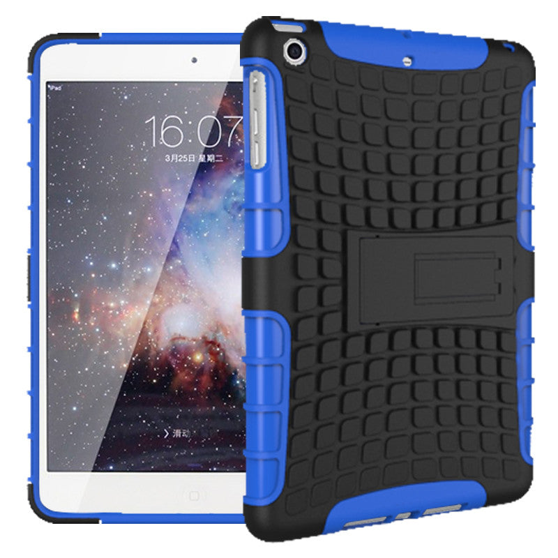 Heavy Duty Shockproof Anti-skid Stand Case Hybrid Soft Hard Case Cover For iPad Mini 1-2-3