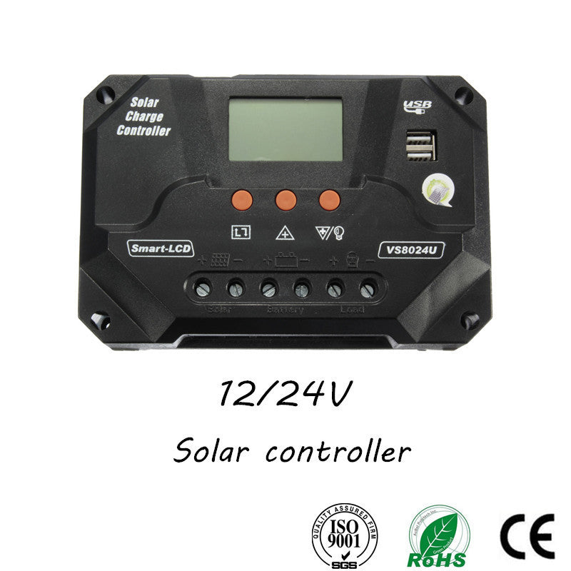 12-24V PWM Solar Panel Battery Regulator Charge Controller with Double USB