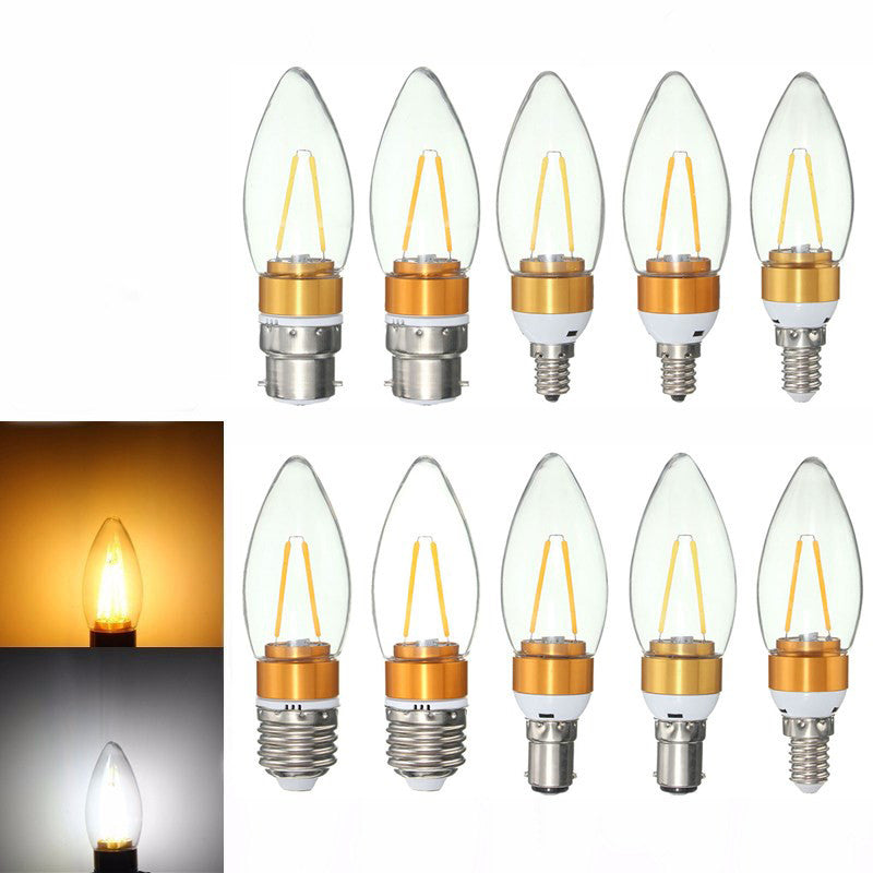 E27 E14 E12 B22 B15 2W Non-Dimmable Edison Filament Incandescent Candle Light Bulb Lamp 110V