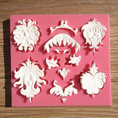 Palace Flame Relief Silicone Fondant Mold Gum Paste Mould