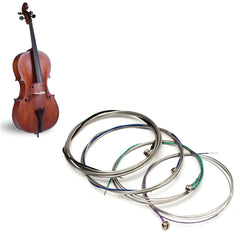 Set of Cello Strings C-G-D-A German Silver Alloy Musical Instrument Accessories