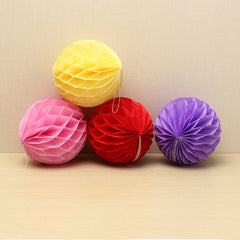 10PCS Paper Honeycomb Ball Festival Wedding Decoration