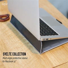 Kajsa Ultra-thin Leather Folding Folio Protective Case Sleeve Pouch Bag For Apple Macbook 12
