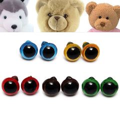 100pcs 8mm 5 Colors Washers Plastic Safety Eyes Teddy Bear Doll Puppets Toys Handmade Craft DIY Tool