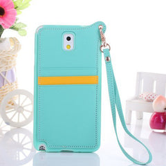 Card Slot TPU Frame Protective Case For Samsung Galaxy Note 3 N9000