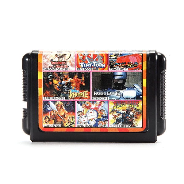 8 in 1 16 Bit Game Cartridges Classic TV Game for SEGA MD2 Game Console KE811 Combination Black Card
