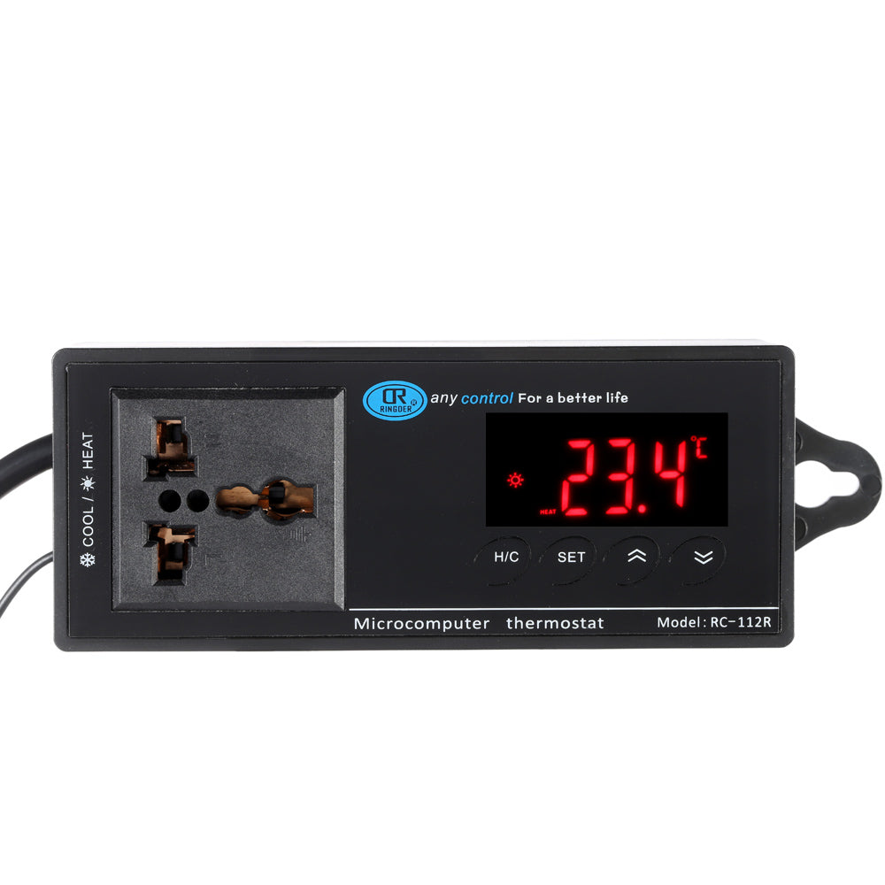 RC-112R Dual-Use Digital Thermal Regulator Industrial Thermostat LED Temperature Controller
