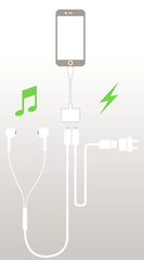 Lightning Audio + Charge kabel