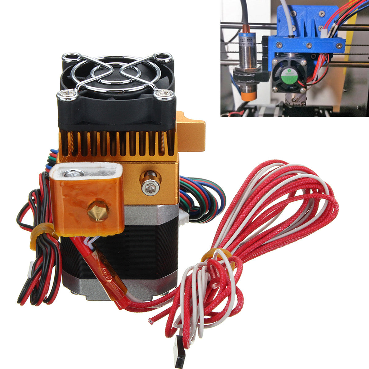 1.75mm 0.4mm Upgrade MK8 Extruder Nozzle Print Head Right-Left Hand For Prusa i3 3D Printer