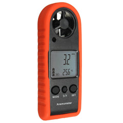 HT-383 Mini Digital LCD Anemometer Wind Speed Meter Tester Air Temperature Gauge