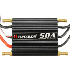 FlyColor 50A Brushless ESC for RC Boat 2-6s with 5.5v / 5A BEC