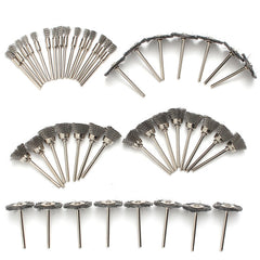 45pcs Steel Wire Wheel Brushes Set Dremel Accessories for Rotary Tools