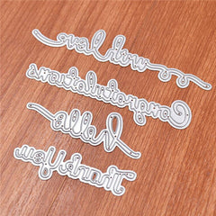 Greetings Word Cutting Dies Stencil DIY Scrapbooking Album Embossing Paper Card