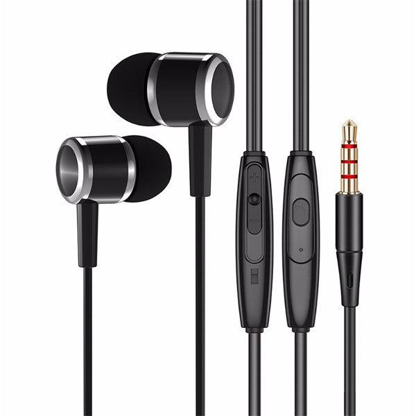 WRZ N5 3.5mm Wired In-ear Earphone Headset With Mic For iPhone iPad Samsung Xiaomi Huawei Computer