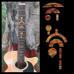 DIY Inlay Sticker for Electric Acoustic Guitar Fretboard