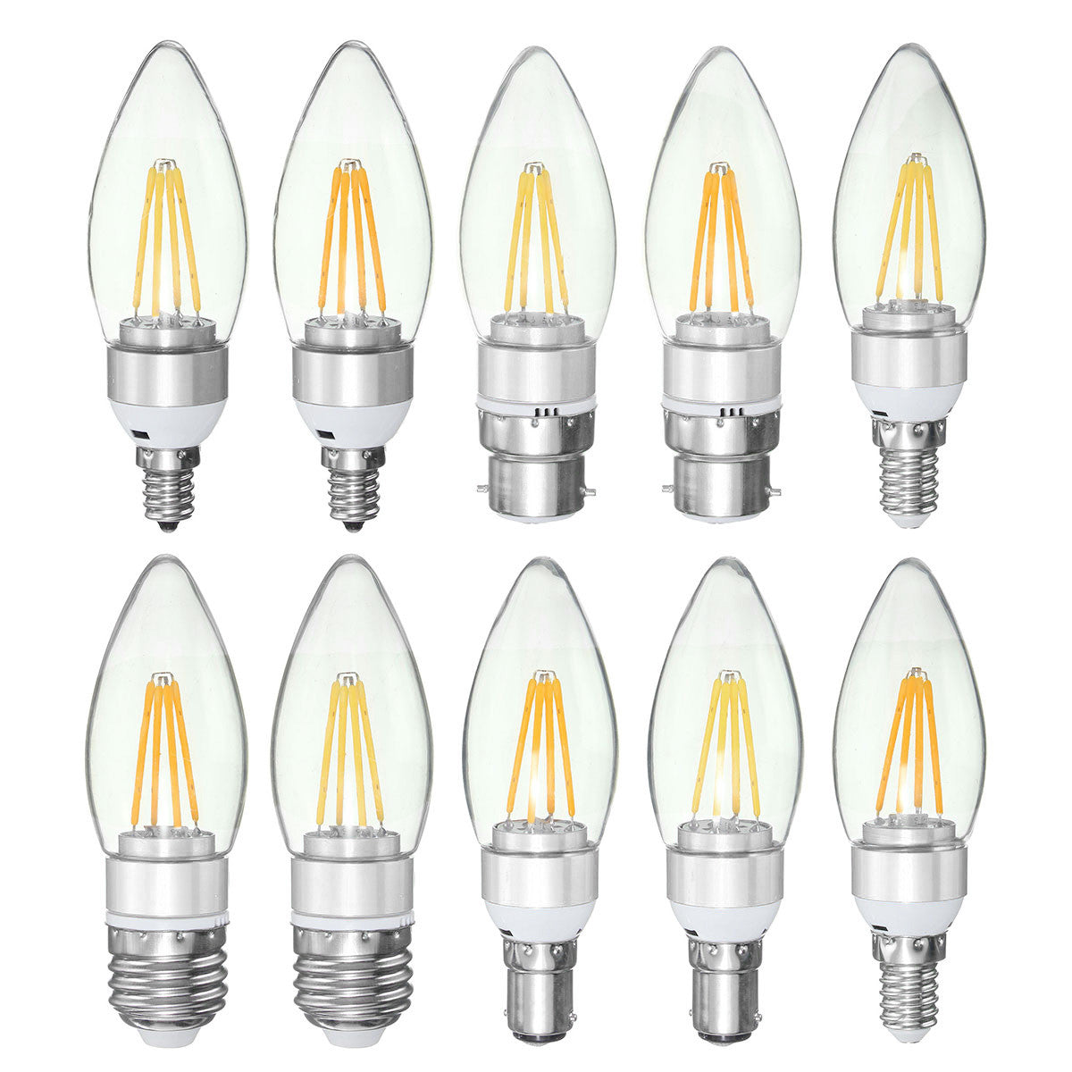 E27 E14 E12 B22 B15 3.5W 4leds LED Filament Pure White Warm White Home Light Lamp Bulb AC220V