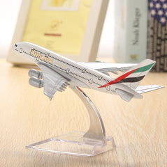 WH A380 Emirates Aircraft Model 16cm Airline Airplane Aeroplan Diecast Model Collection Decor