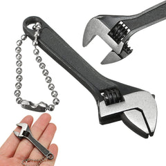 DANIU 66mm 2.6inch Mini Metal Adjustable Wrench Spanner Hand Tool 0-10mm Jaw Wrench Black
