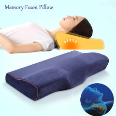 Slow Rebound Butterfly Memory Foam Pillow Head Rest Anit-Snoring Neck Pillow Car Office Home Cushion