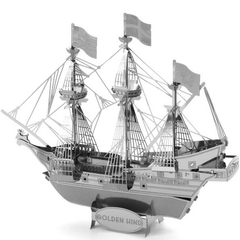 Aipin DIY 3D Puzzle Stainless Steel Model Kit Pirate Ship