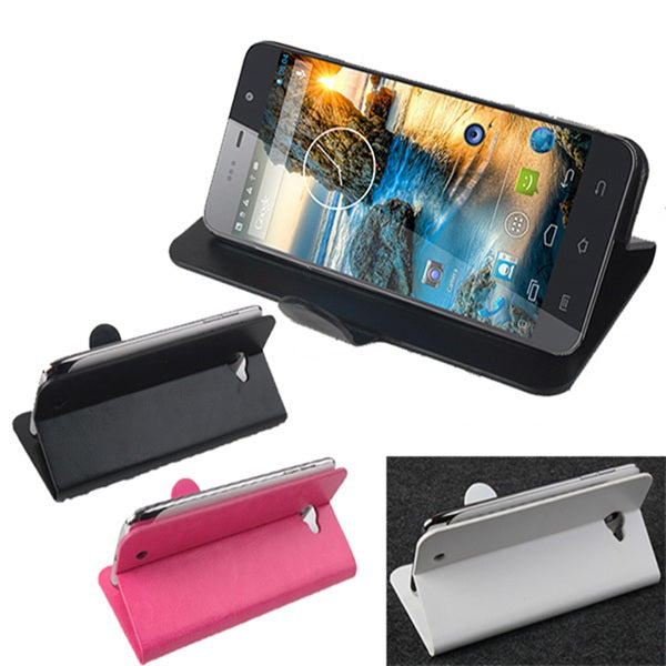 Flip PU Leather Case Cover Stand for THL W200S W200C W200