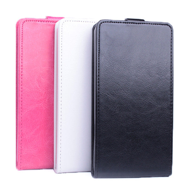 Flip Up And Down PU Leather Case White Black Red Color For THL 4000