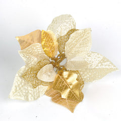 Brilliance Gold Flower Christmas Tree Decoration Supplies