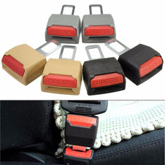 1 Pair Universal Replacement Car Safety Seat Belt Extender Support Clip Buckle