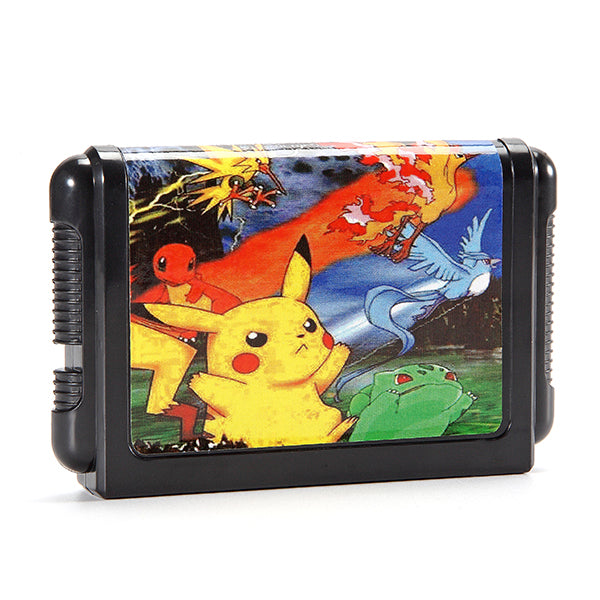 16 Bit Game Cartridges Pokemon Generation for SEGA MD2 Game Console